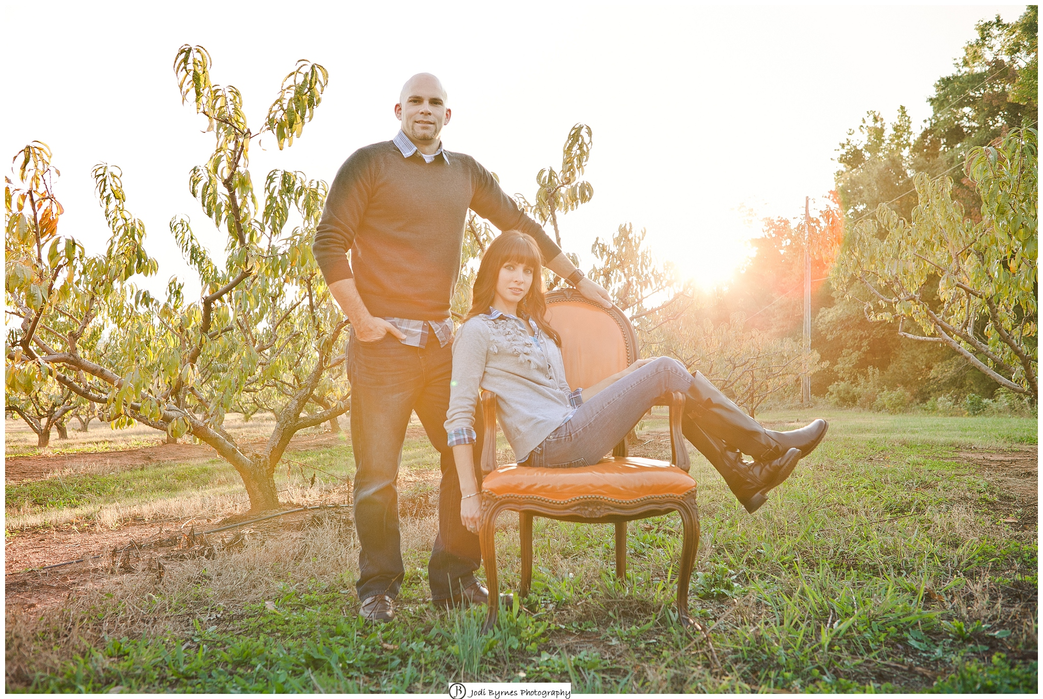 family peach orchard session