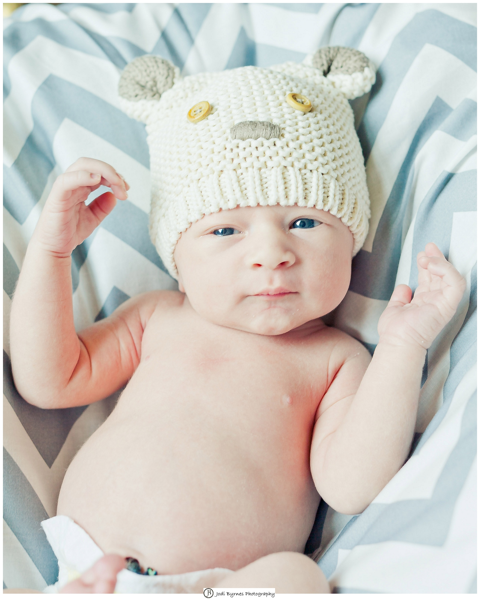 lifestyle newborn bear hat