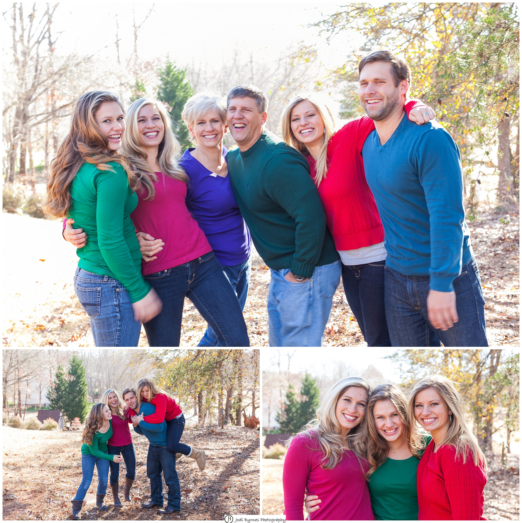 bright colors for family portraits