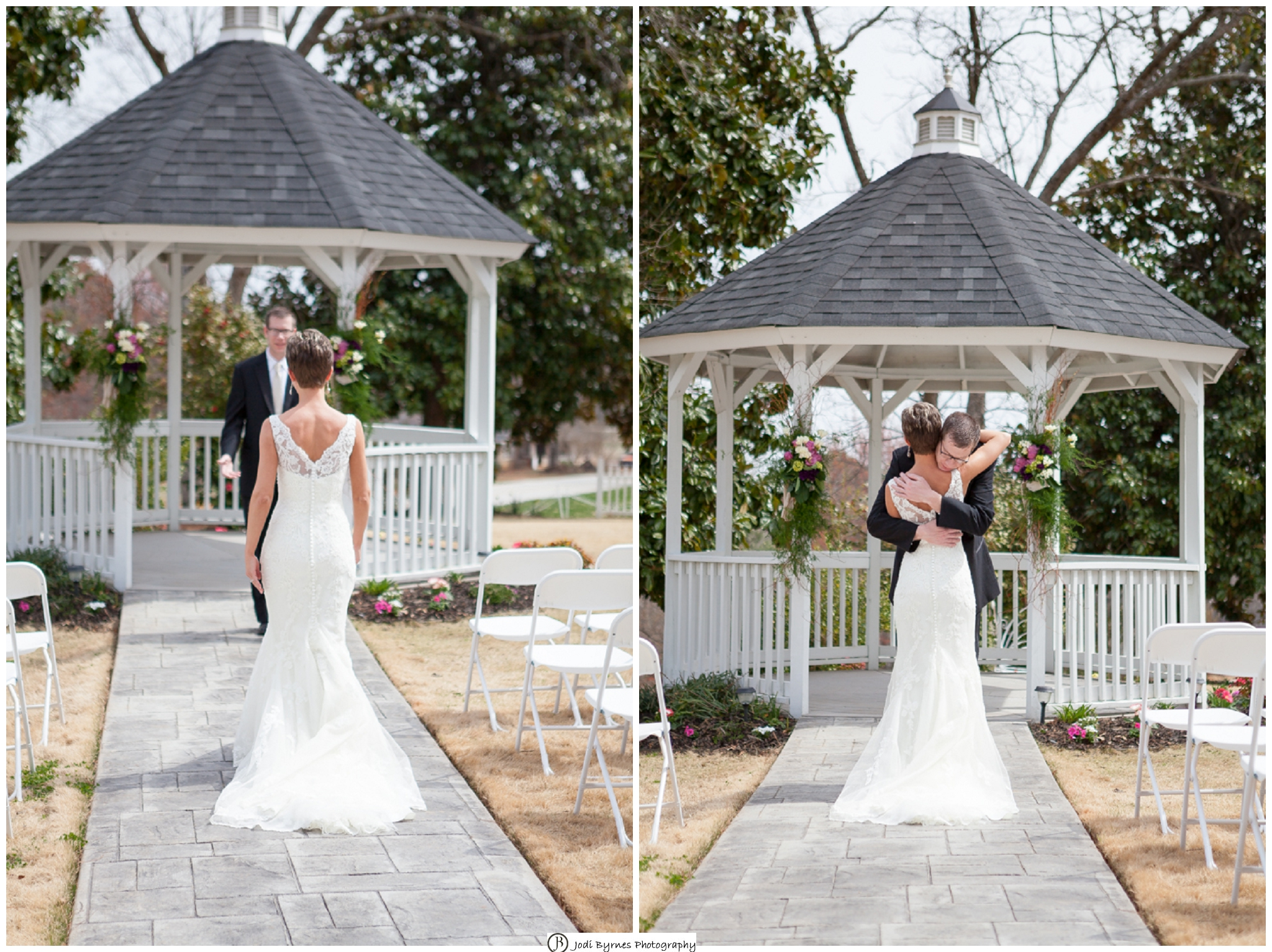 Skylight Chapel first look wedding