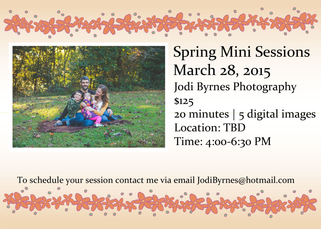 Greenville mini portrait sessions