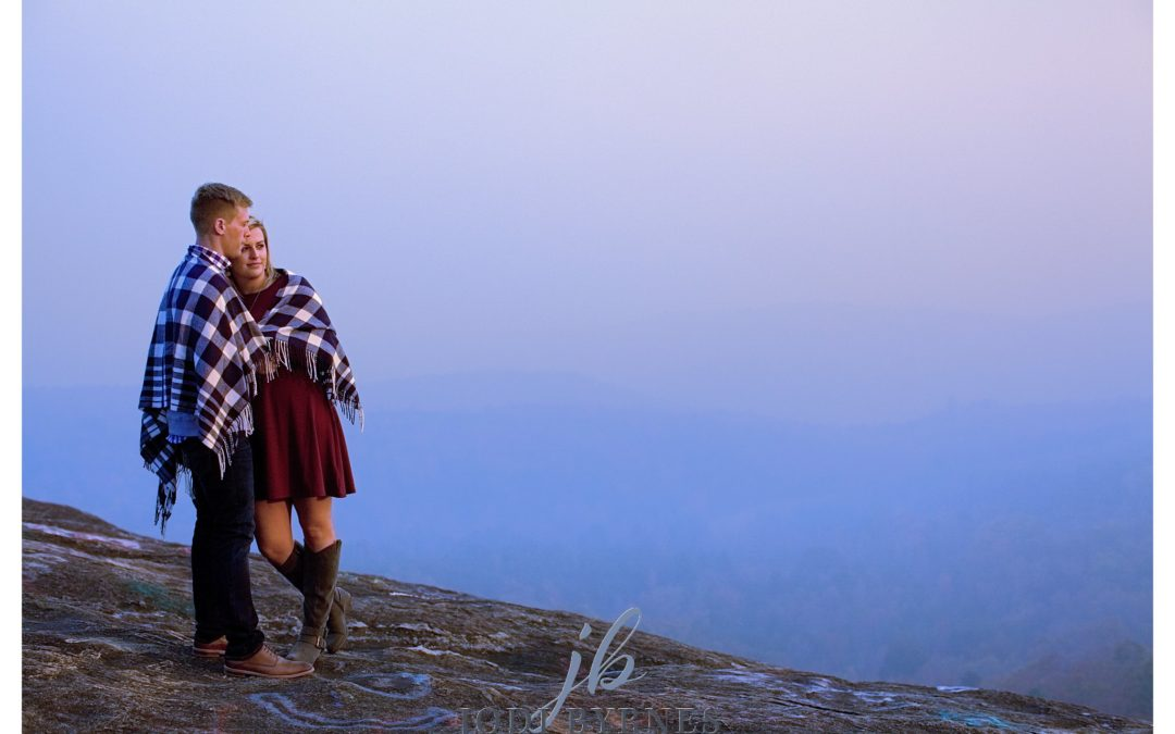 Andy + Whitlie | Caesar's Head Bald Rock | Engagement Pictures