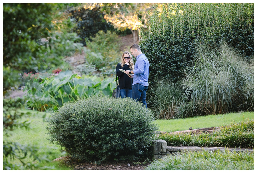 Rock Quarry Surprise Engagement | Downtown Greenville Engagement | Greenville Couple Photographer