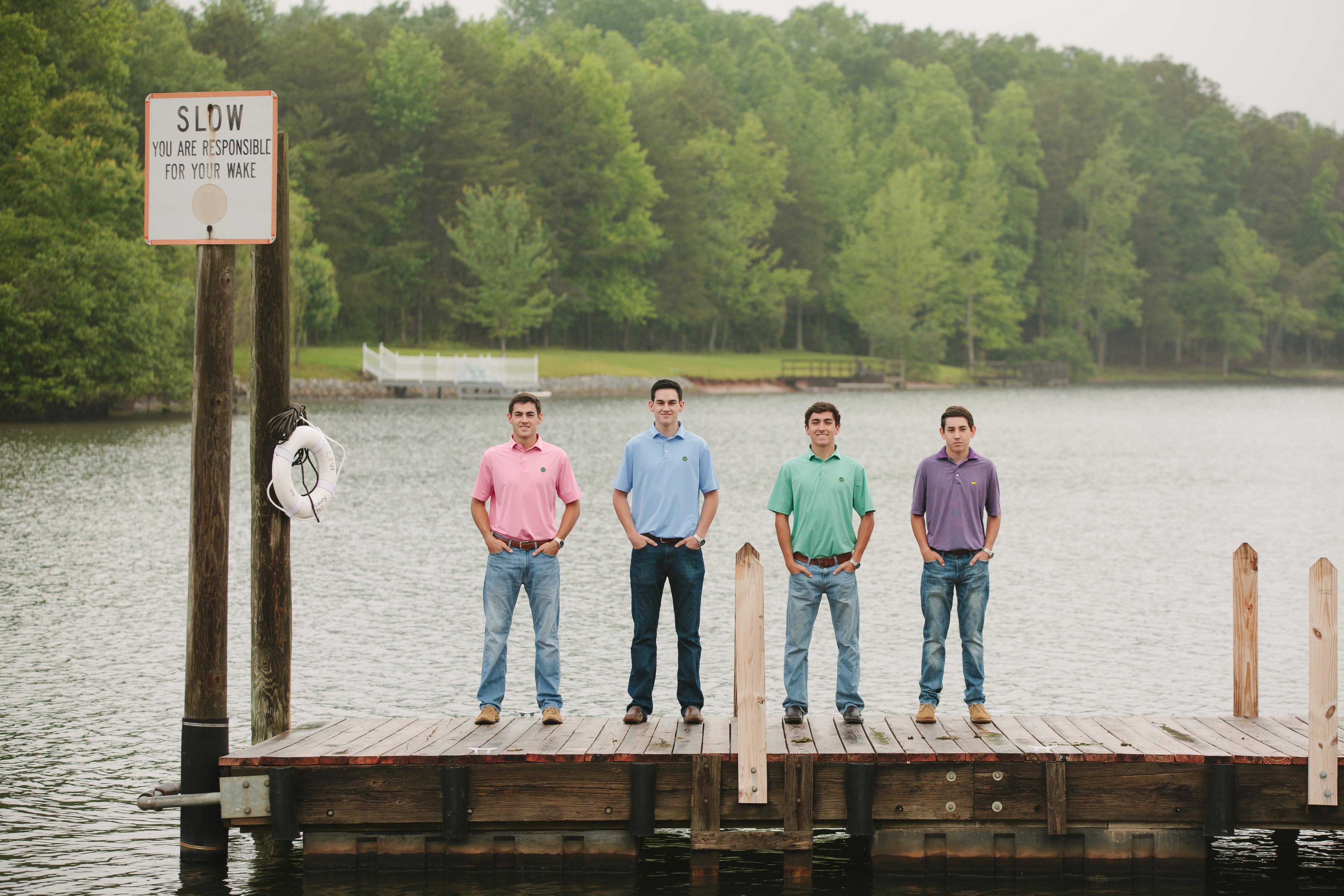 boys on a pier