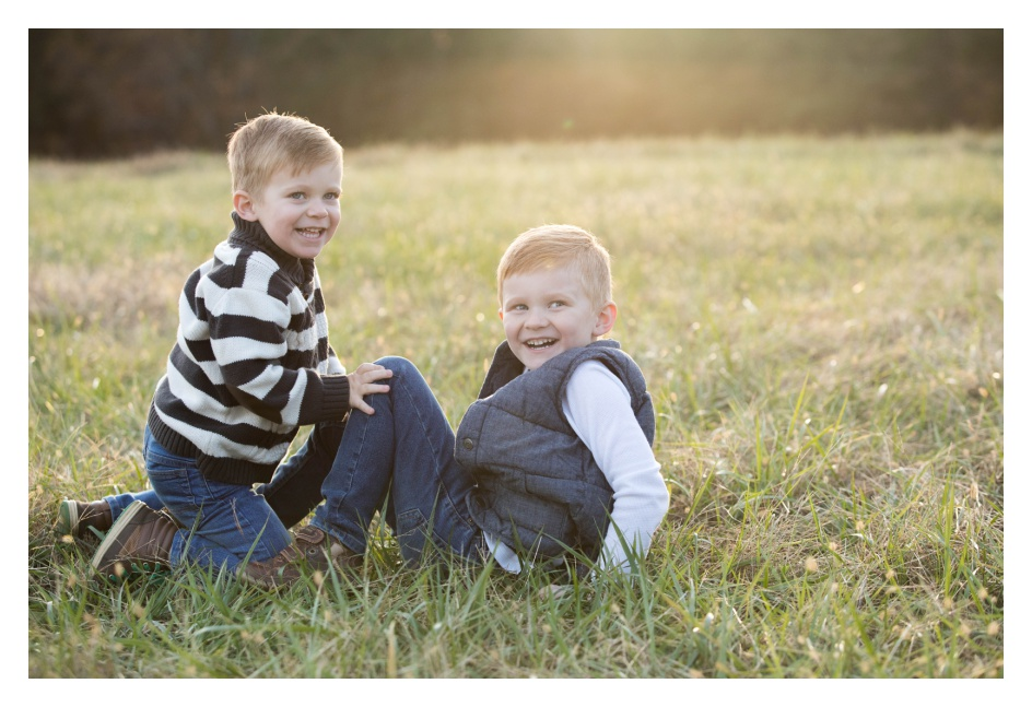 Open Field Family Portrait Session | Greenville Family Photographer